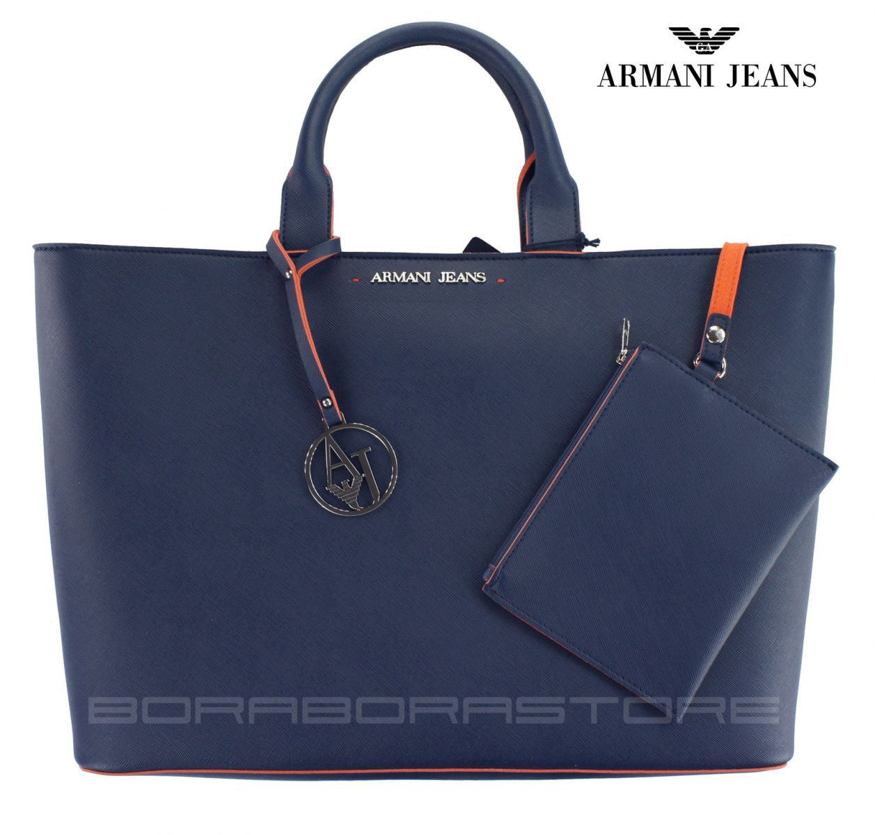 armani jeans damen bag frauen tasche mod 0524v blau ebay. Black Bedroom Furniture Sets. Home Design Ideas