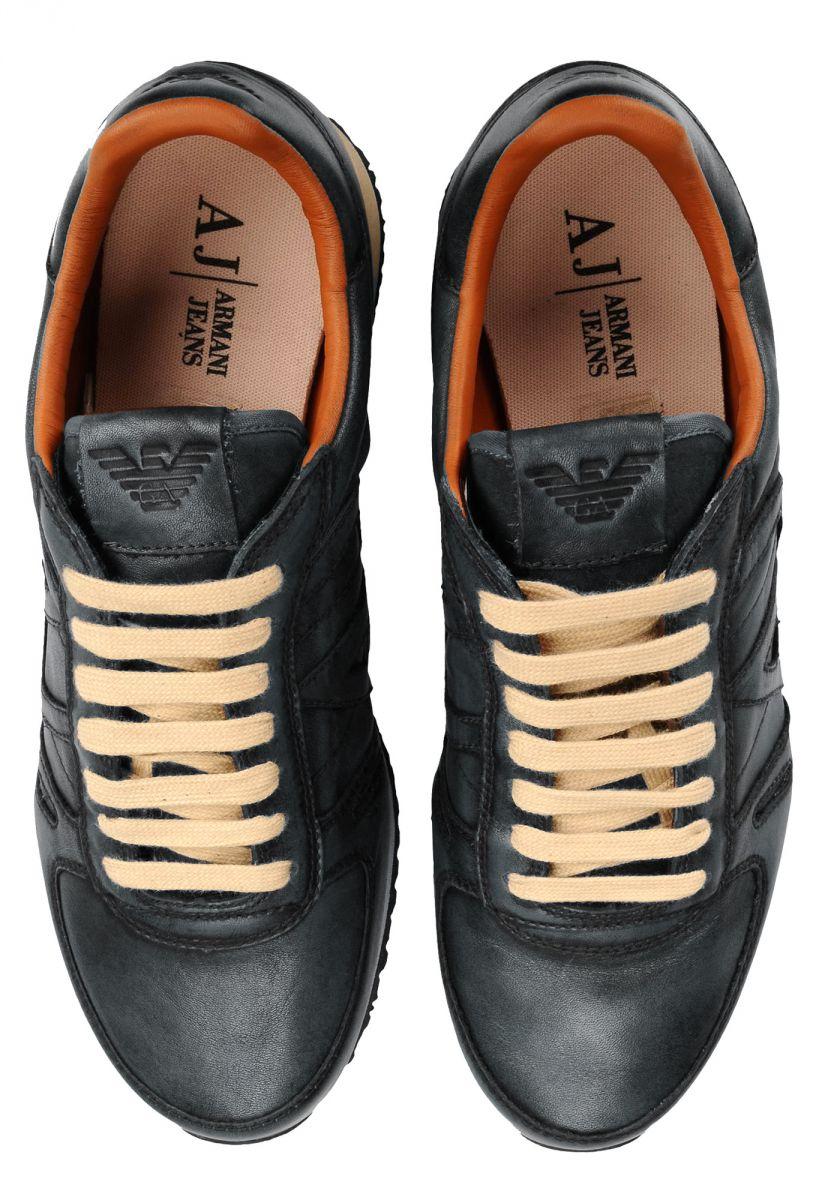herren schuhe armani jeans grau b6524 top sneaker ebay. Black Bedroom Furniture Sets. Home Design Ideas