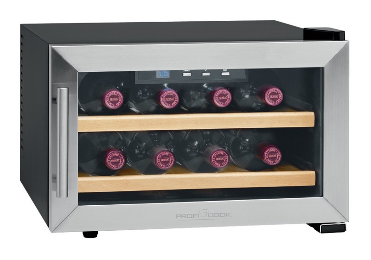 cantinetta vino frigo elettrica proficook pc wc 1046 8. Black Bedroom Furniture Sets. Home Design Ideas