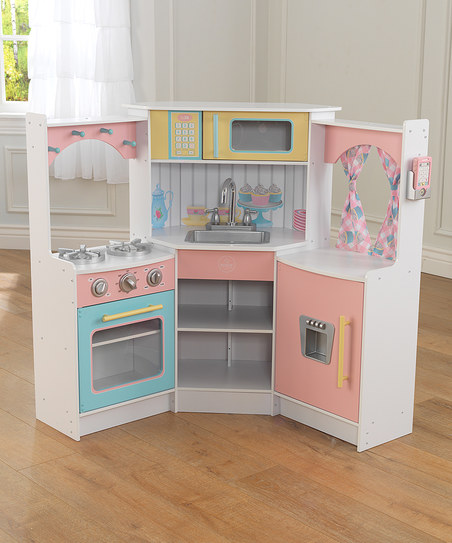 Kidkraft Deluxe Corner Play Kitchen Ebay
