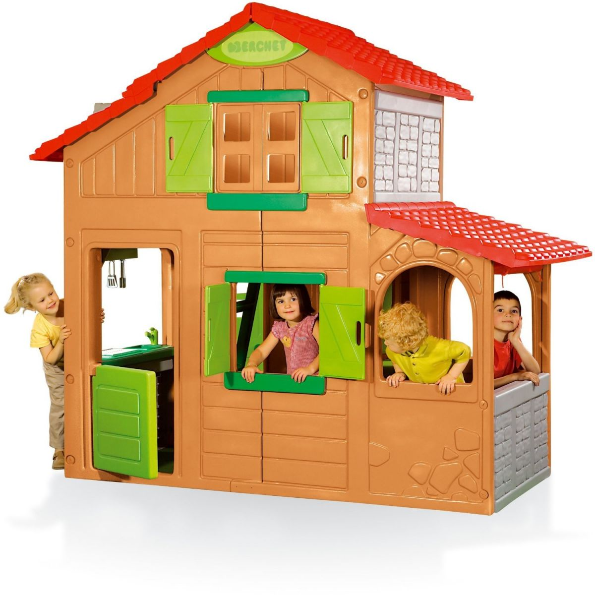 simba smoby floralie duplex playhouse garden playhouses childrens houses ebay. Black Bedroom Furniture Sets. Home Design Ideas