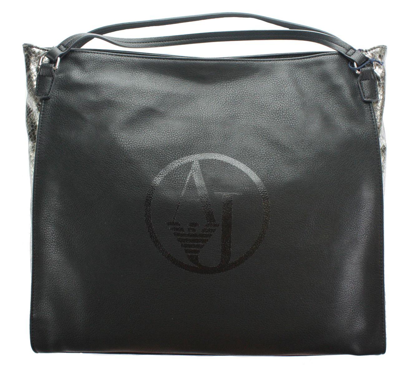 armani jeans damen bag frauen tasche schwarz mod b5251 ebay. Black Bedroom Furniture Sets. Home Design Ideas