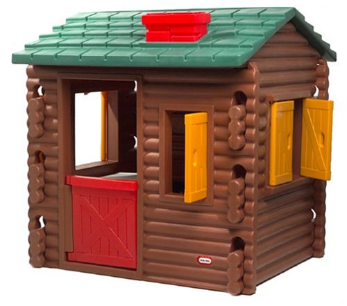 little tikes log cabin garden playhouses garden toys ebay. Black Bedroom Furniture Sets. Home Design Ideas