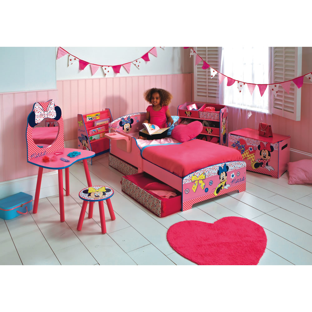 Minnie Mouse Toddler Bed With Shelf And Underbed Storage