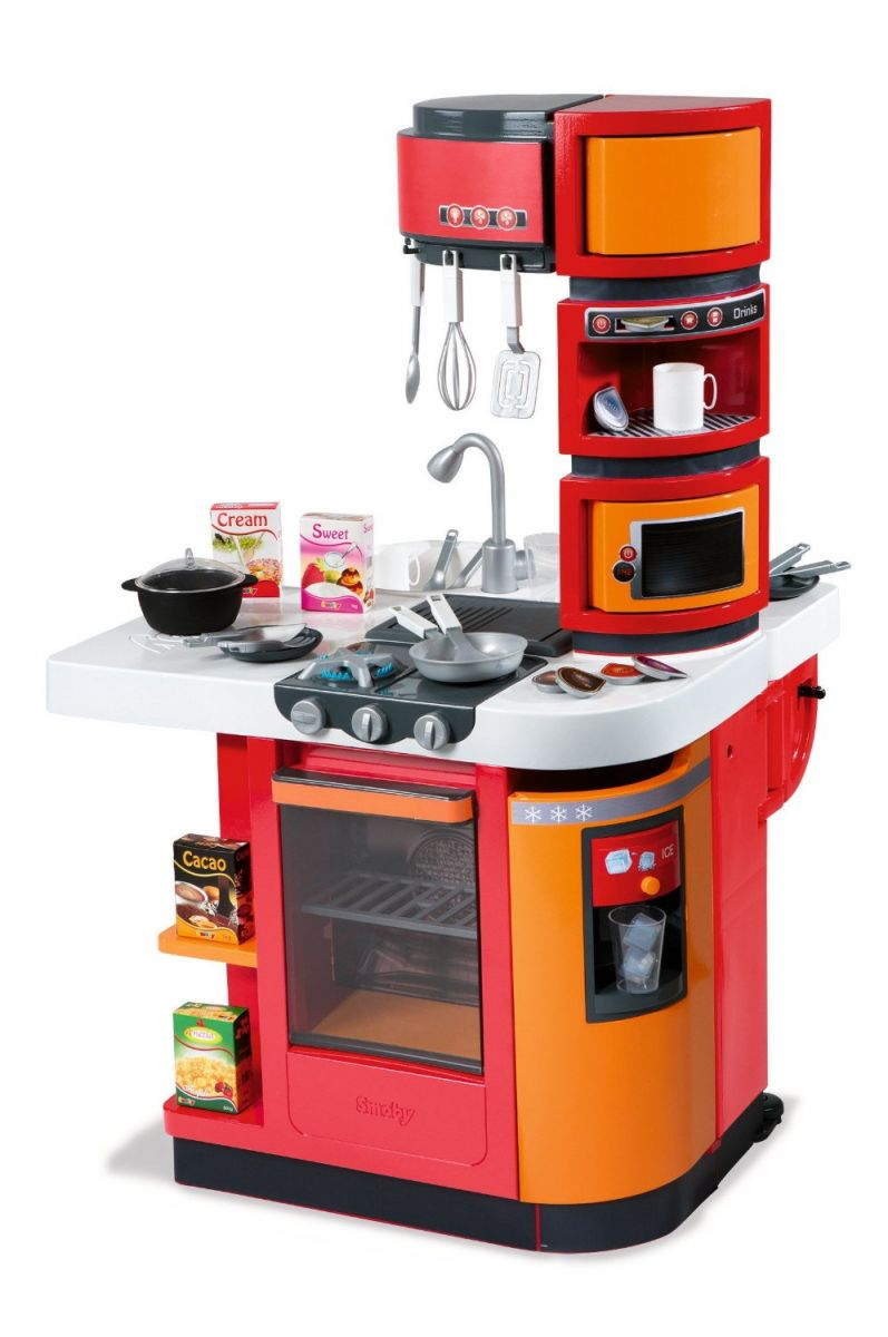 smoby cook master kitchen role play toys childrens kitchens smoby kitchens ebay. Black Bedroom Furniture Sets. Home Design Ideas