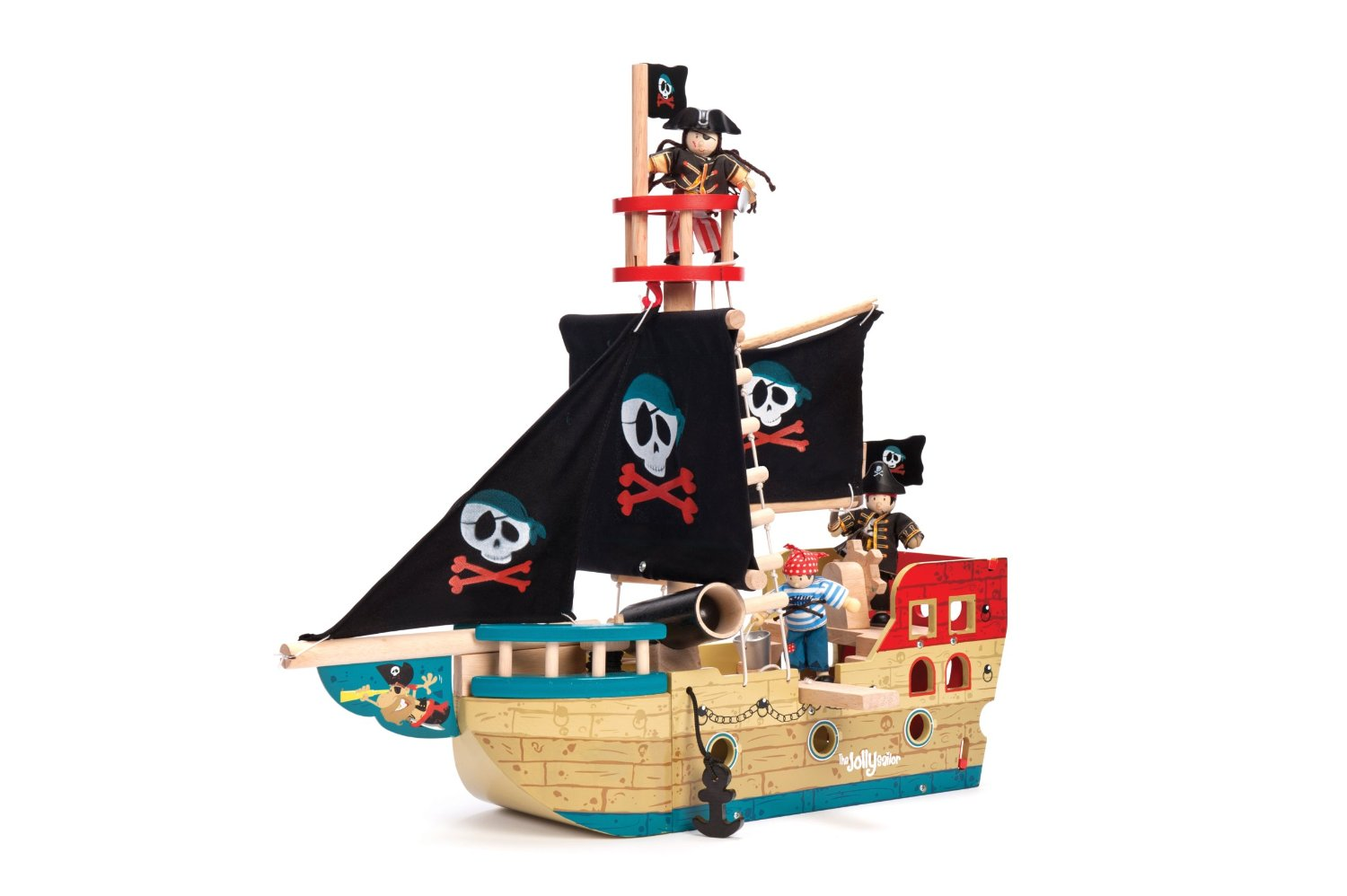 Le toy van jolly pirate ship wooden toy pirate ships wooden toys