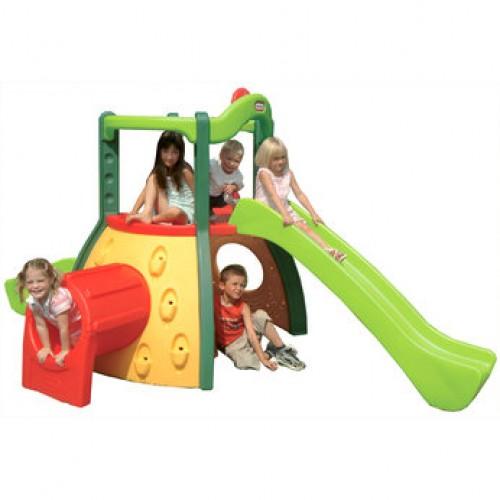 little tikes double decker superslide childrens garden. Black Bedroom Furniture Sets. Home Design Ideas