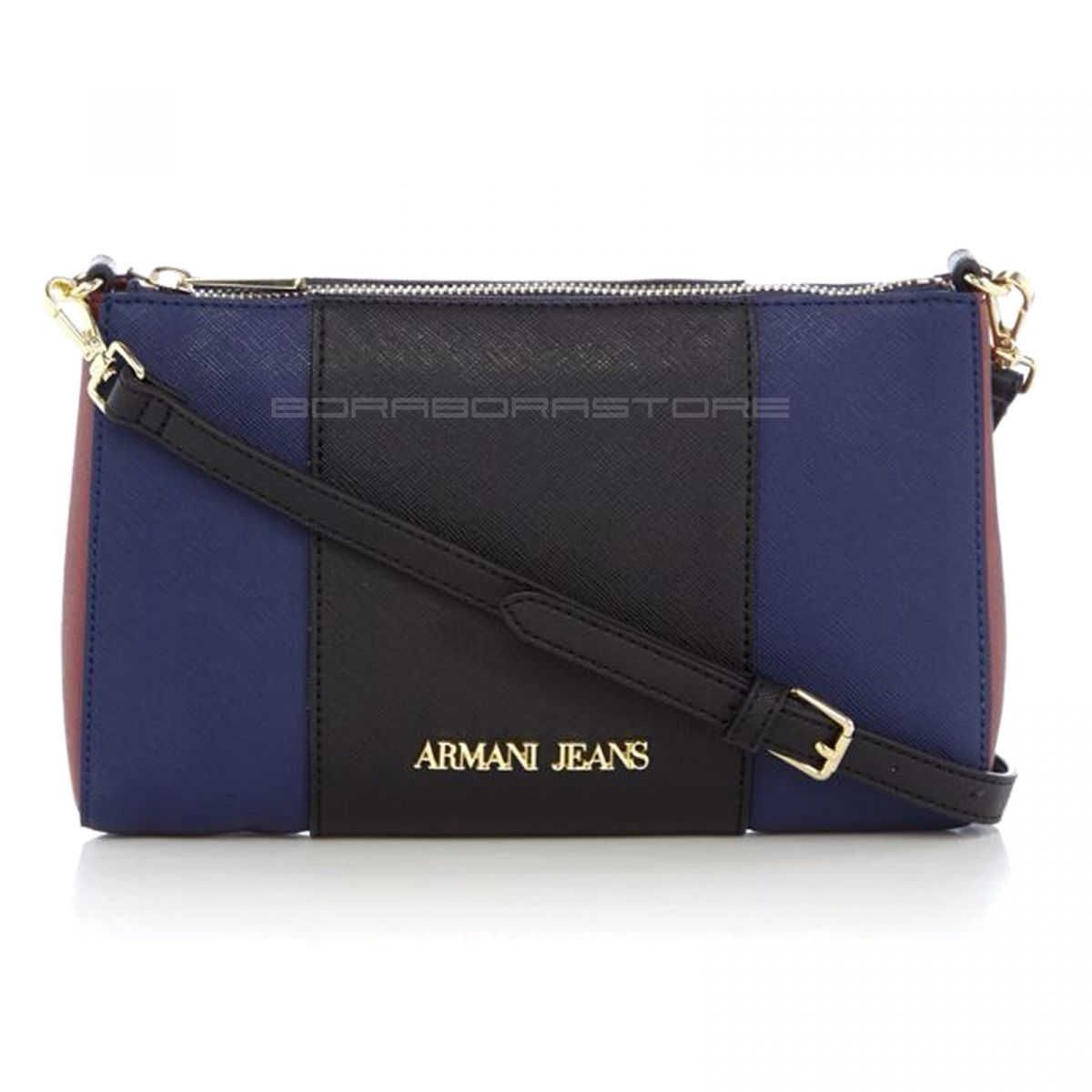 armani jeans damen bag frauen tasche blau ebay. Black Bedroom Furniture Sets. Home Design Ideas