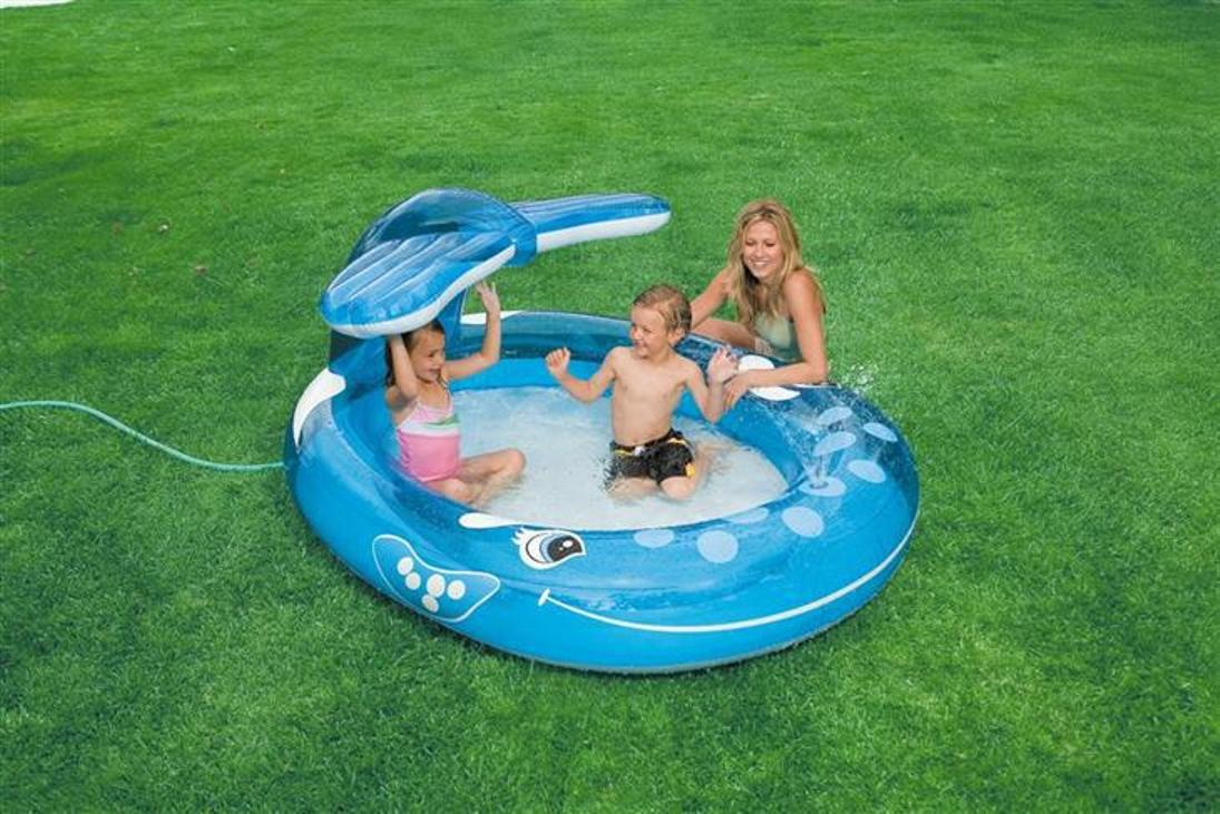 piscina piscine fuori terra gonfiabile balena spruzzo
