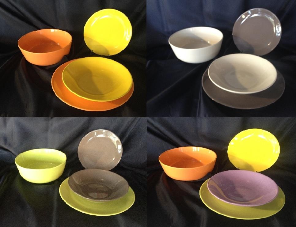 Piatti colorati gres porcellanato