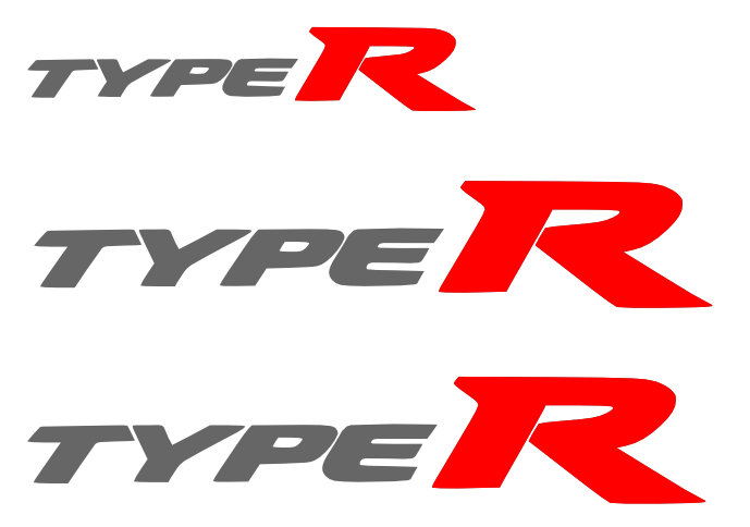 Type r Logo Type r Stickers